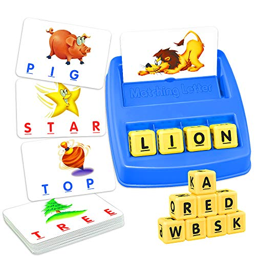 Easony Boy Toys Age 3-8, Matching Letter Game Educational Toys for 3-8 Year Olds...
