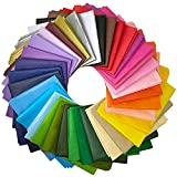 Supla 180 Sheets 36 Colors Tissue Paper Bulk Wrapping Tissue Paper Art Rainbow Tissue Paper 20 x 26' for Art...