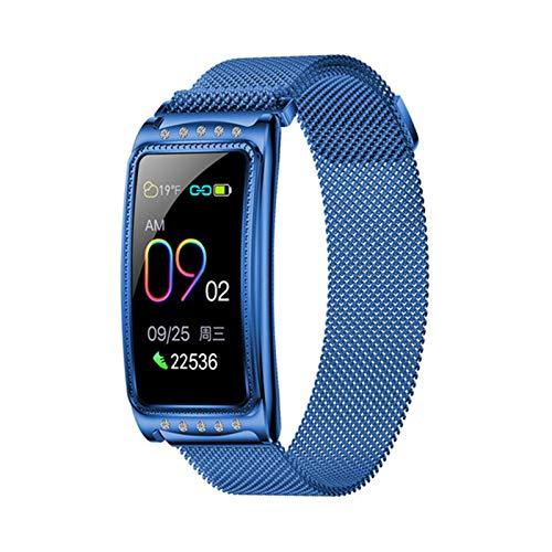 GANG Pulsera Inteligente, F28 Relogio Smart Watch Women Presión Arterial Moda Fitness Tracker Muñeca de Salud Smartwatch Feminino para Android Ios Desgaste diario/Azul