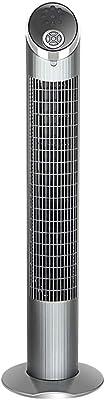Mainatee Fan Tower Fan Intelligent Remote Control Timing Energy-Saving Floor Fan Silent Leafless Fan, 3 Speeds, W30CM H102CM A+ (Color : Gray)