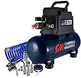 Campbell Hausfeld 3 Gallon Portable Air Compressor with Nailer & Connection...
