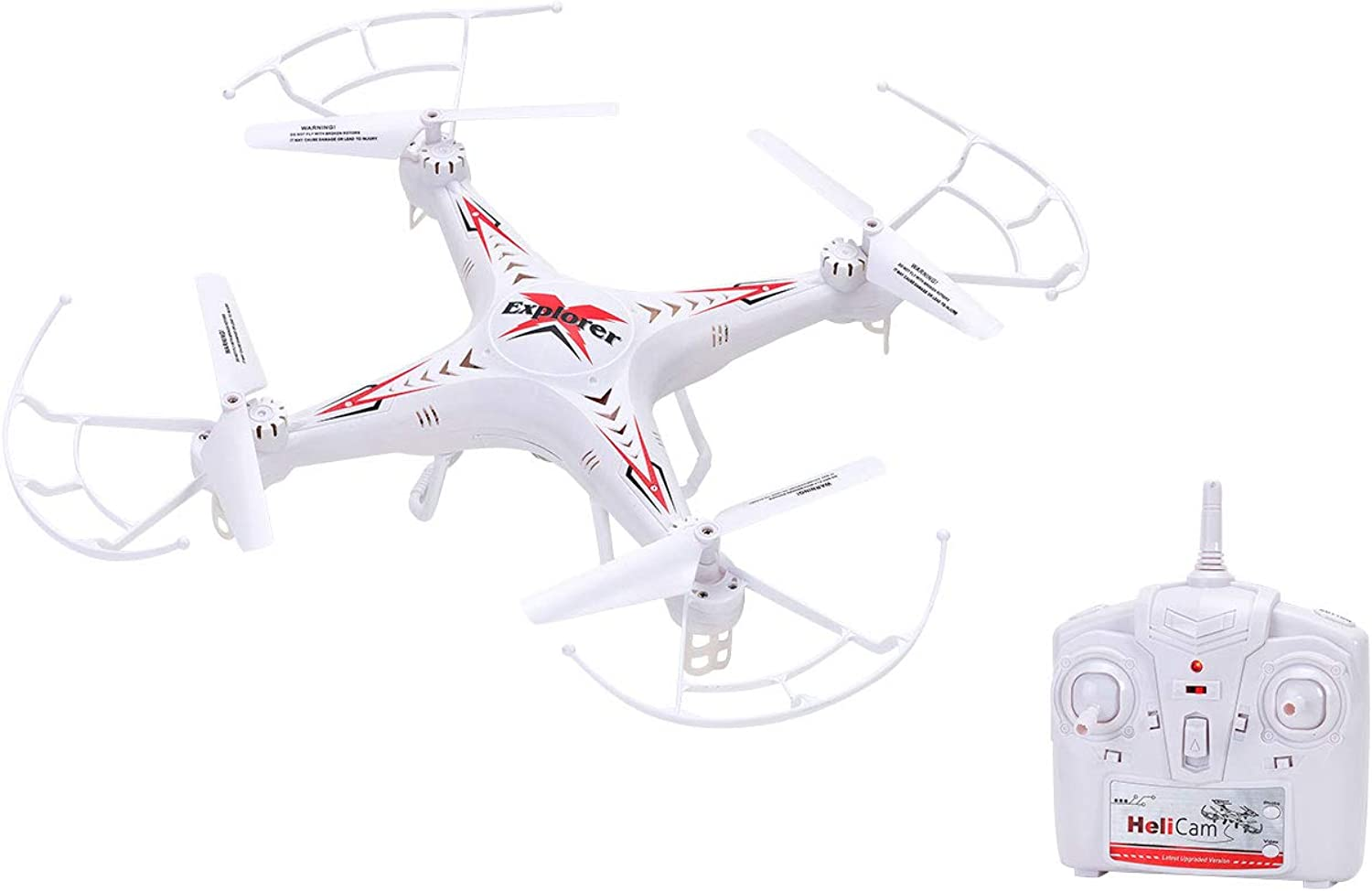 Globo Toys Globo  37399 39 x 39 cm Spidko Radio Controlled Drone with Light