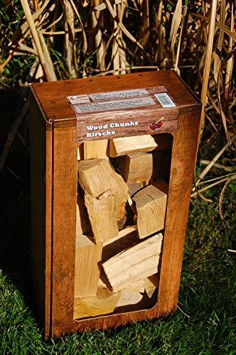 Kirsche Wood Chunks / Cherry Chunks Räucherklötze / Smokerholz direkt vom Holzhof, 100{28b94a2f2dc79a11cb6be47255564db07d3114ccf6002ef5abe341a5e6c1235a} Natürlich für optimales Raucharoma, 1,5Kg