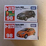 トミカ トヨタアクア 初回 と通常版の2台セット