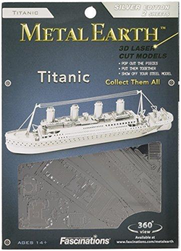Fascinations Metal Earth MMS030 - 502602, Titanic, Konstruktionsspielzeug, 2 Metallplatinen, ab 14 Jahren