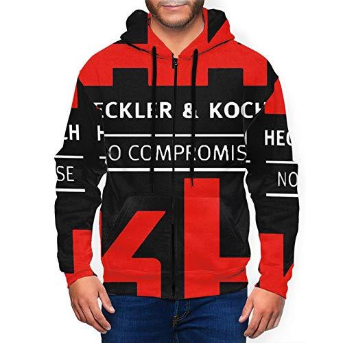 CSD Pillow case Hk-Heckler-and-Koch Men's Hoodie Unisex 3D Realistic Digital Print Pullover Hoodie Hooded Sweatshirt Black Black