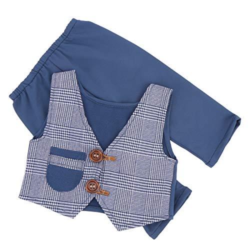 2pcs / Set Ropa de bebé de traje infantil para bebé(Denim Blue)