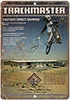 1982トラックマスターBMXレア広告レトロ金属サイン