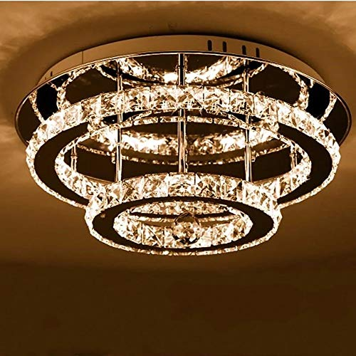 Lámpara de Techo de Cristal LED Moderna de 36W con Estilo de...