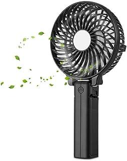 Desk Fan with Usb Air Cooler Mini Portable Handheld Fan,Handheld USB Fans,Rechargeable Electric Personal Handle Fans, Fold...