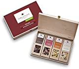 wellnuss Weihnachtsgeschenk: 4 Premium Nuss- und Schokoladen-Snacks in der Geschenkbox aus Birkenholz mit der Schmuckverpackung 'Frohe Weihnachten'| Frei von Zusätzen