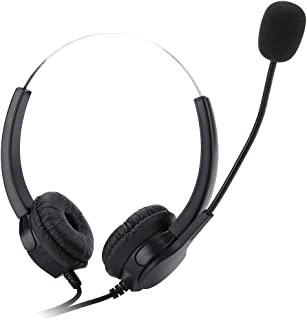 Mavis Laven Call Center Headset Single 2.5mm Cuffie con Microfono Regolazione del Volume Cuffie cablate con Funzione Noise...