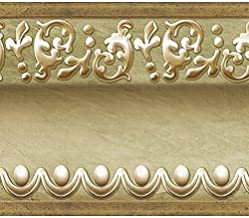 Gold Green Molding Peel and Stick Wall Border Easy to Apply