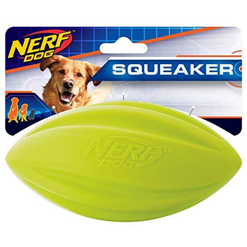 Nerf Dog 65in Squeak Foam Turbo Football  Green