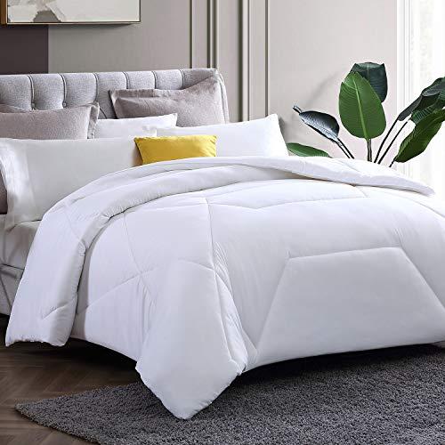 Hansleep King Comforter All-Season Down Alternative Duvet Insert, Soft Fluffy Comforter with Corner Tabs, Hypoallergenic Lightweight (King 104x90'')