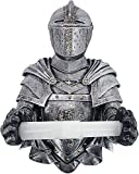 Dream Roca Toilet Paper Roll-Bathroom Wall Medieval Knight to Remember Gothic Decor,Armor Knight Paper Towel Tube Sticker Wall-Mounted Punch-Free Toilet Paper Towel Pumping Bathroom roll Paper