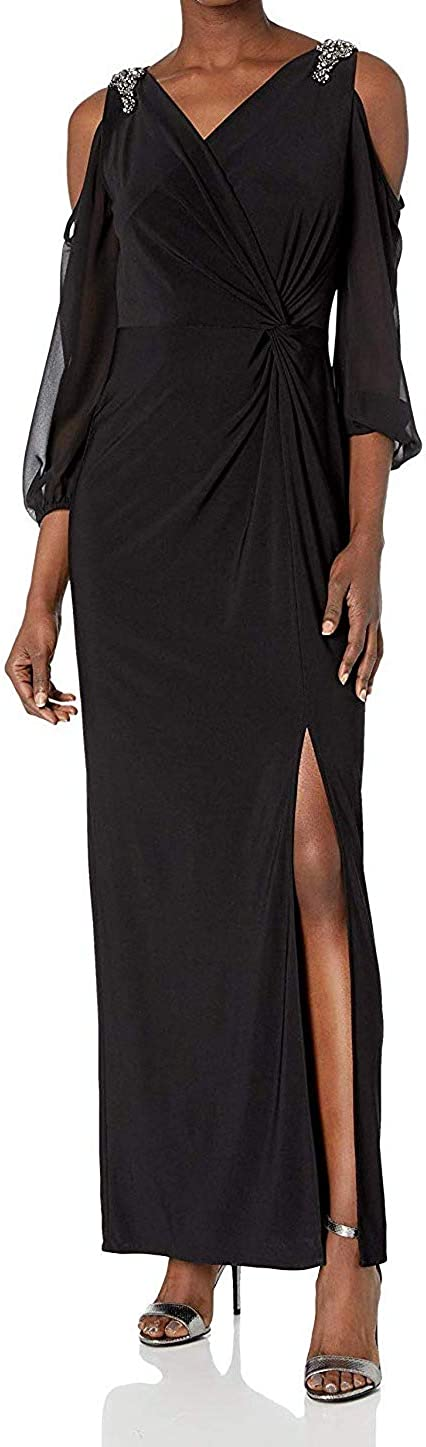 Alex Evenings womens Cold Shoulder Popover Dress