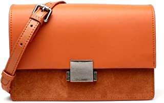 FengheYQ New Women's Crossbody Trend Casual Fashion Shoulder Bag Small Leather Tote Size:24 * 8 * 16cm (Color : Orange)
