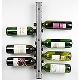 Nuevo acero inoxidable barra de metal botellero vino estante montado en la pared Holder 12botellas, acero inoxidable, 12hole