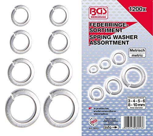 BGS 8053 | Federringe-Sortiment | 1200-tlg