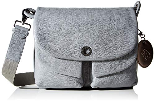 Mandarina Duck Damen MELLOW LEATHER Handtasche, Aluminium, Taglia Unica