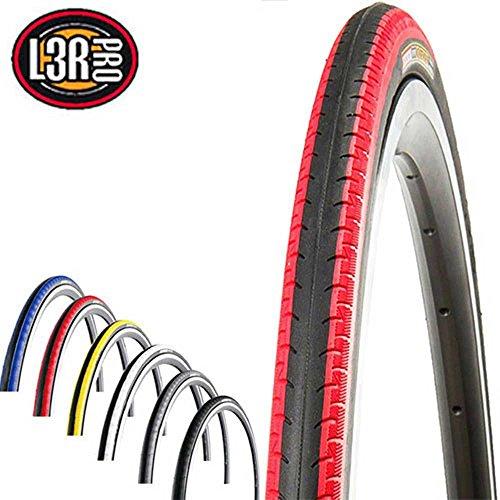 KENDA K-196 Kontender Fahrrad Reifen // 23-622 (28´´), Ausführung:schwarz/rot, Drahtreifen