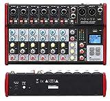 Novox M8 MKII - Mesa de mezclas con 8 canales de entrada analógicos, receptor Bluetooth, reproductor MP3/WAV, juego de mesa de mezclas de audio DJ Party – Equipo de música para escenarios