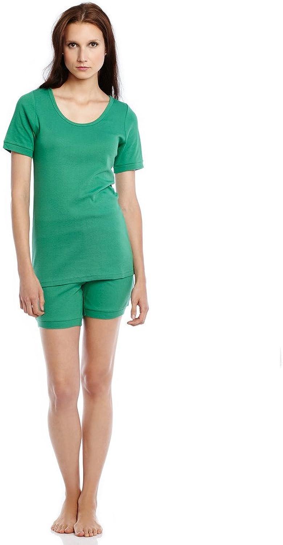 Leveret Women Shorts 2 Piece Pajama Green X Small