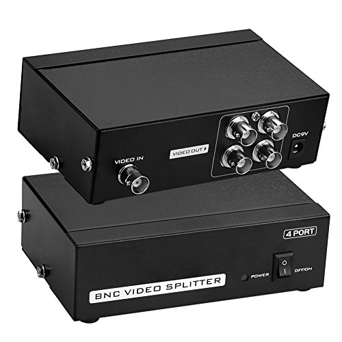 SIENOC 4 porte adattatore splitter amplificatore di distribuzione video BNC 50Hz-5.5MHz