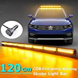 Barra de luces LED 45 pulgadas 80w LED ámbar techo minibar luz estroboscópica luz led luz antiniebla luz de luz de barco 14 modos estroboscópicos intermitentes