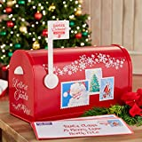 BrylaneHome Christmas Mr. Christmas Santa's Enchanted Mailbox, Red