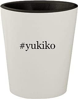 #yukiko - White Outer & Black Inner Hashtag Ceramic 1.5oz Shot Glass