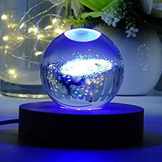 Vanory 3D Crystal Ball with Galaxy System Model 60mm (2.36 inch) Glass Sphere Best Birthday Gift for Kids, Teacher of Physics, Astronomer, Lover of The Universe, Boy/Girlfriend, Classmates