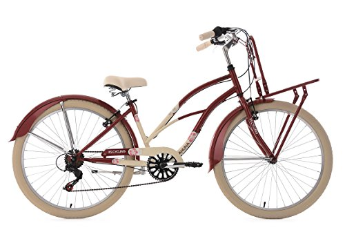KS Cycling Beachcruiser Cargo Cruiser 26\'\' Kahuna rot-beige RH 41 cm