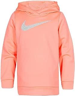 Therma Girls Racer Pink Swoosh Hoodie Sweatshirt Jacket Dri-fit
