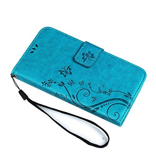 pas cher un bon S5 Mini Case MAXFE.COPU Housse de protection pour portefeuille en cuir avec fente pour carte magnétique…