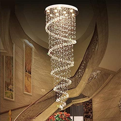 Lámparas de araña Moderna Lámpara Colgante, La Gota De Agua De Cristal K9 Iluminación De La Lámpara LED De Montaje A RAS De Techo Lámpara De Techo De Artefacto De Iluminación,D50*H220CM(6