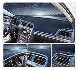 wjyfexble Cubierta del Tablero de Instrumentos del Tablero de Coches Pad Dashmat Sun Shade Instrument Protector Alfombra Accesorios para Volkswagen VW Polo MK6 2018 2019 2020 hnwyj