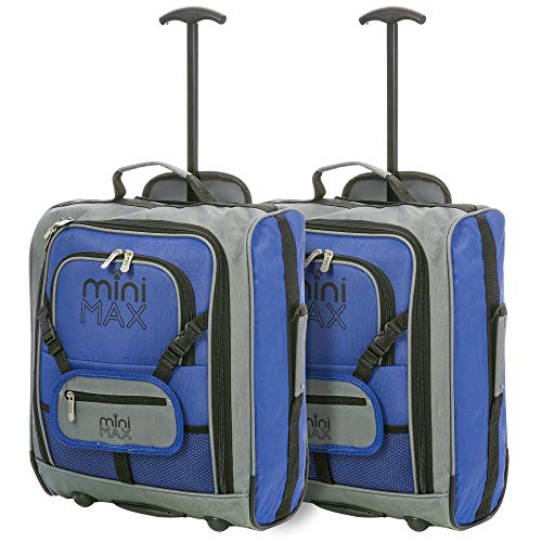 MiniMAX - Equipaje de cabina infantil - Maleta Trolley y mochila (MultiColor)