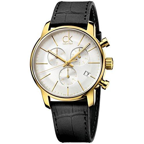 CK K2G275C6 - Reloj de Cuarzo para Hombre, Correa de Cuero Color Negro