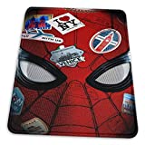 Spiderman Mouse Pad Mouse Mat with Stitched Edge Non-Slip Rubber Base Large Mouse Pads for Laptops Computers and PCs 12' X 10' X 0.12' Inches