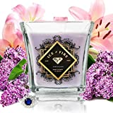 Ice N Fire Lilac N Lilies Sterling Silver Ring Candle (Hidden Ring Valued up to $5,000)
