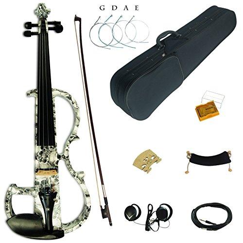 Kinglos 4/4 Colorato In Legno Massello Avanzate Elettrica/Silenzioso Violino Kit Raccordi Ebano - DSG1312