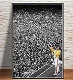 Poster Drucke Musiker Rock Band Legendären Popstar Malerei