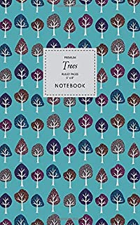Trees Notebook - Ruled Pages - 5x8 - Premium (Sea Green)
