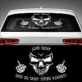 "Skull Don't Chase What You Can't Kill Sticker fenêtre arrière 2""X 40"" Car Sticker JDM"
