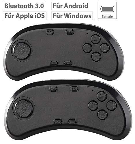 auvisio Game Controller: 2er-Set Gamepad & Musik-Controller für VR-Brillen, Bluetooth 3.0 (Joystick, Bluetooth)