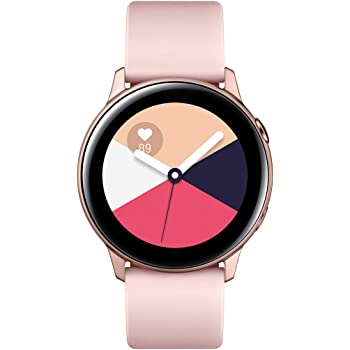 "Samsung Galaxy Watch Active – Smartwatch (1,1"",40mm, Tizen, 768 MB de RAM, Memoria Interna de 4 GB), Color rosa – Versión Española"
