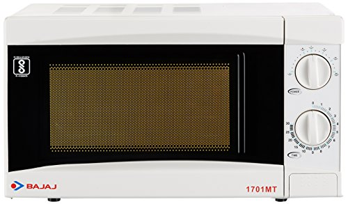 Bajaj 17 Litres Solo Microwave Oven with Mechanical Knob (1701 MT, White)