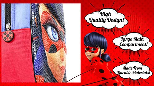 51KmdwDmFbL - Miraculous | Mochila Bolso Ladybug 3D | Diseño Exclusivo De Lentejuelas | ¡Ideal para Vacaciones Y Regreso A La Escuela